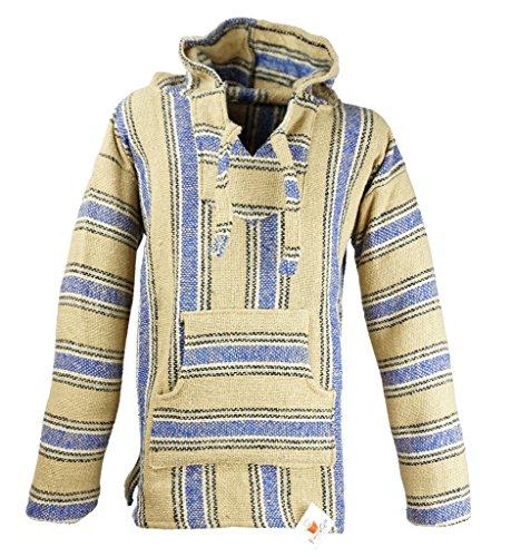 Funny Guy Mugs Premium Baja Hoodie Sweatshirt Pullover Jerga Poncho (El Paso, Small)