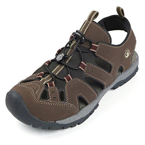 Northside Mens Burke II Sport Athletic Sandal, Dark Brown, 10 M US
