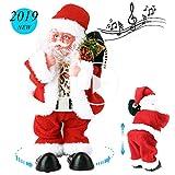 SdeNow Twerking Santa Claus, Shaking Hips Walking Circle Santa Claus Singing Dancing Christmas Santa Claus Toys Xmas Electric Dolls Gift for Kids
