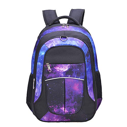 Galaxy Backpack for Girls, Boys, Kids, Teens by Fenrici, 18inch Durable Book Bags for Elementary, Middle, Junior High School Students, Backpack with a Mission (FAITH, L)