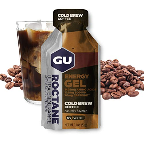 GU Energy Roctane Ultra Endurance Energy Gel, 24-Count, Cold Brew 2X Caffeine