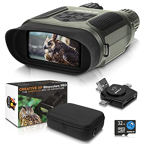 CREATIVE XP 2021 Digital Night Vision Binoculars for Complete Darkness - Infrared Night Vision Goggles for Adults - Hunting, Spy, Military, Tactical, Security