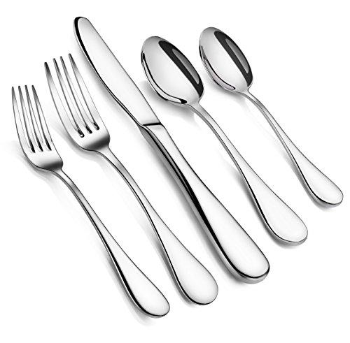 Artaste 56389 Rain 18/10 Stainless Steel Flatware 20-Piece Set, Service for 4