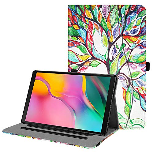 Fintie Case for Samsung Galaxy Tab A 10.1 2019 Model SM-T510/T515/T517, Multi-Angle Viewing Stand Cover with Pocket, Love Tree