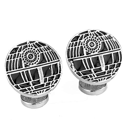 Geek & Glitter Star Wars Deathstar Cufflink Set Box | The Last Jedi Gifts, A New Hope, Gifts for Men (Death Star)