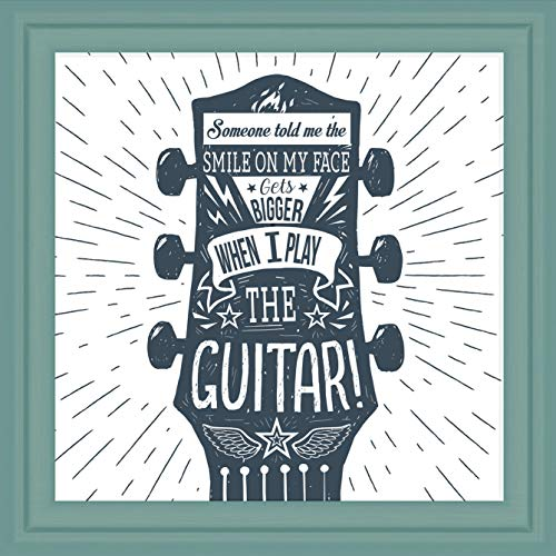 Guitar Themed Gifts | Music Lovers Gift Ideas | Studio Room Accessories | Guitar Player Bedroom Wall Art for Teens | Musician Artwork Gifts