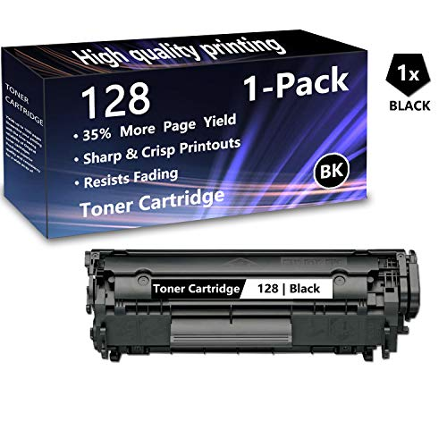 1 Pack (1 Black) Cartridge 128 Toner Cartridge Replacement for Canon imageCLASS MF4450, MF4500/4700/4800 Series, D500 Series, L100, L190 Laser Printers, Sold by AlToner.