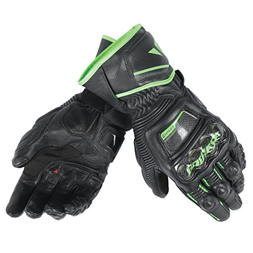 Dainese Druid D1 Long Gloves, Black/Black/Fluorescent Red - XX-Large