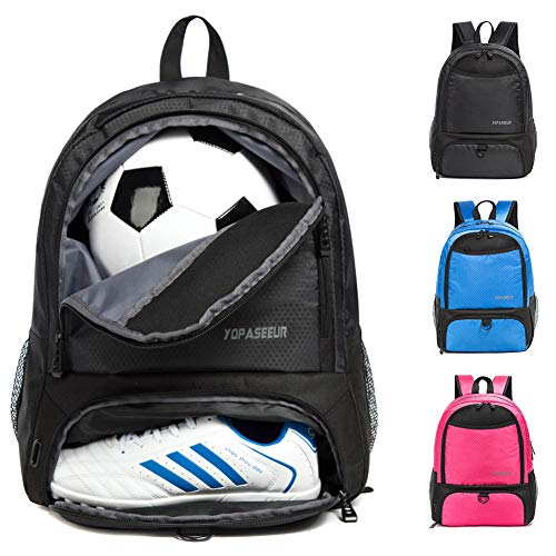 Youth Soccer Bags -Boys Girls Soccer Backpack Basketball vollyball Football Bag& Backpack with Ball Compartment - All Sports Bag Gym