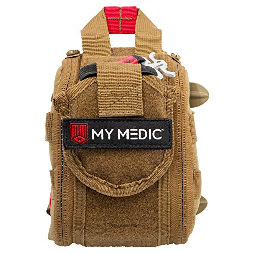 My Medic The RangeMedic First Aid Kit - Bandages, Burn Aids, Medication, Stainless Steel Instruments - for Hunting, Shooting, Emergencies, Accidents - Basic, Coyote