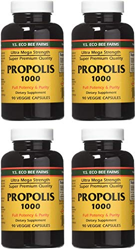 YS Eco Bee Farms Propolis 1000-90 caps (Pack of 4)