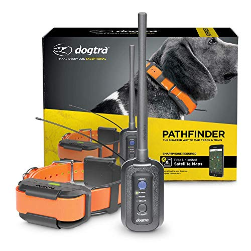 Dogtra Pathfinder 9-Mile 21-Dog Expandable Waterproof Smartphone GPS Tracking & Training E-Collar with 2-Second Update Rate, No Subscription Fee, Free Satellite Map