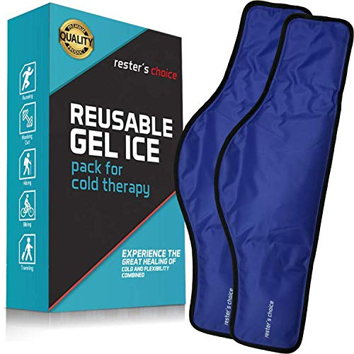 Cold Therapy Gel Pack - Ice Pack for Neck and Shoulders (23 x 8 x 5 Inch - Pack of 2) - Reusable Freezer Gel Pad for Swelling, Injuries