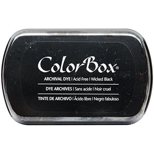 ColorBox Archival Dye Ink Full Size Inkpad, Wicked Black