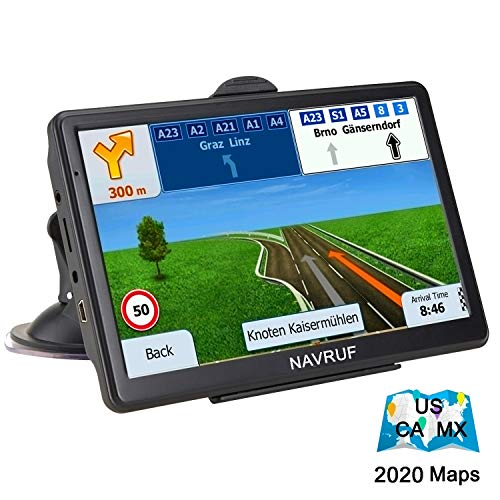 GPS Navigation for Car Truck 7 Inch 8GB Touch Screen Voice Navigation Vehicle GPS, Speeding Warning, Route Planning, Free Lifetime Maps of USA Canada Mexico