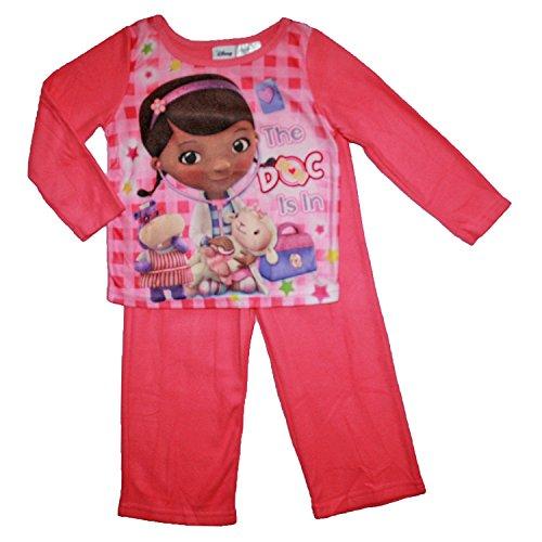 Disney Doc McStuffins Baby-Girls Infant Girls 2pc Flannel Pajamas Set (18Months) Pink