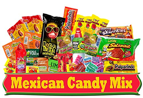 Mexican Candy Assortment (30 Count), This Tasty Bag of Sweets is a Variety Of Spicy, Sweet, Sour Candies. Includes Lucas, Pelon, Vero Lollipops, Pulparindo and more.