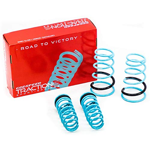 Godspeed LS-TS-SN-0002 Traction-S Performance Lowering Springs, Reduce Body Roll, Improved Handling, Set of 4, compatible with Scion tC (ANT10) 2005-10