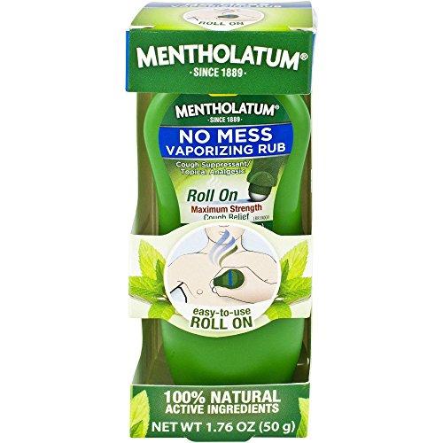 Mentholatum Roll On Maximum Strength Cough Relief, 1.76 Oz (Pack of 2)
