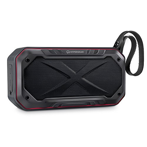 HyperGear Sound Storm All-Terrain HD Wireless Speaker. Mounts On Bikes, Motorcycles & Strollers. Built-in mic, 8hr Playtime. For All Bluetooth Devices