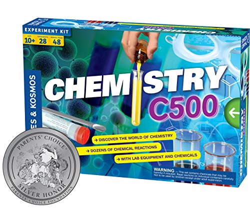 Thames & Kosmos Chemistry Chem C500 Science Kit with 28 Guided Experiments 48 Page Science Guide Parents' Choice Silver Award Winner, 13.1' L x 2.6' W x 8.9' H