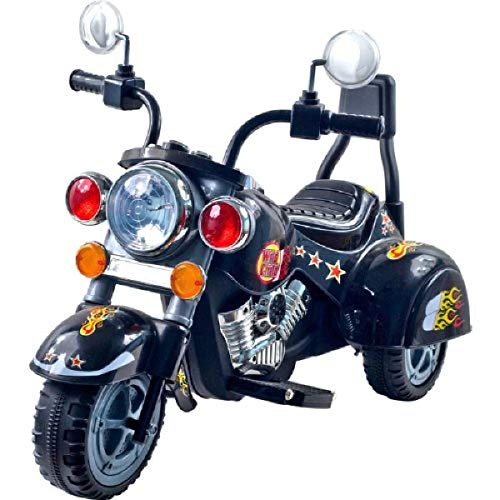 Ride on Toy, 3 Wheel Trike Chopper Motorcycle for Kids by Lil' Rider - Battery Powered Ride on Toys for Boys and Girls, 18 Months - 4 Year Old, Black