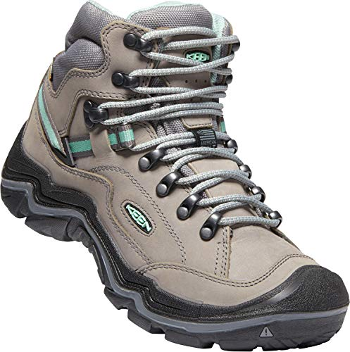 KEEN Durand II Mid Waterproof Leather Hiking Boot, Grey Flannel/Steel Grey, 9.5 M US