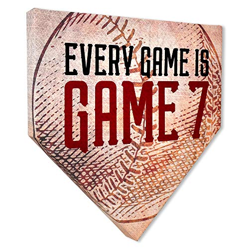 """COLLECTIBLE CANVAS Every Game is Game Home Plates, Sports, Wall Art for Bedroom, Nursery, and Other Parts of The House Or Dorm, Wall Decorations with Baseball Or Sports Theme 12"""" x 12"""" x 1.5"""""""