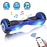 UNI-SUN Hoverboard for Kids, Self Balancing Scooter 6.5' Two-Wheel Self Balancing Hoverboard with Bluetooth and Lights (Bluetooth Blue)