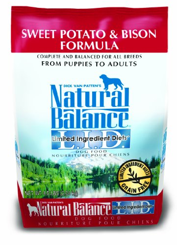 Natural Balance Limited Ingredient Diets Dry Dog Food, Grain Free, Sweet Potato And Bison Formula, 4.5-Pound