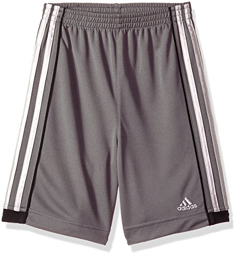 adidas Boys' Big Active Sports Athletic Shorts, Speed 18 Grey Five, Medium