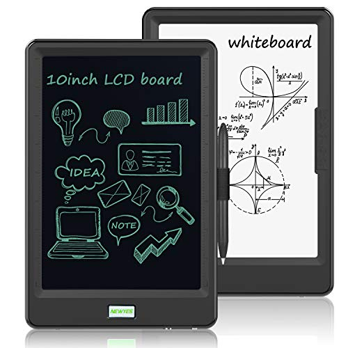 10 Inch LCD Writing Tablet, WOBEECO Electronic Drawing Tablet Kids Tablets Doodle Board Writing Pad for Kids and Adults at Home, School and Office with Lock Erase Button(Black)