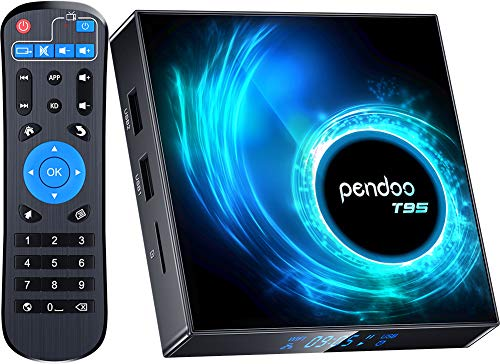 pendoo Android 10.0 TV Box, T95 Android TV Box 4GB RAM 32GB ROM Allwinner H616 Quad-core 64bit, Support 2.4GHz WiFi 6K/4K Ultra HD/ 3D/ H.265 Android Box…
