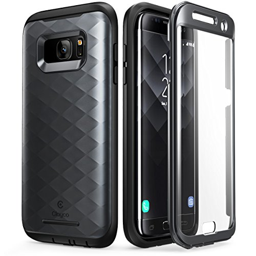 Galaxy S7 Edge Case, Clayco [Hera Series] Full-body Rugged Case with Built-in Screen Protector for Samsung Galaxy S7 Edge (2016 Release) (Black)