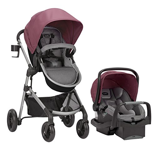 Pivot Modular Travel System with SafeMax Infant Car Seat, Lightweight Baby Stroller, Easy Infant Car Seat Transfer, Dusty Rose