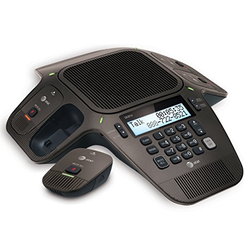 AT&T SB3014 DECT 6.0 Conference Phone with Four Wireless Mics, Black