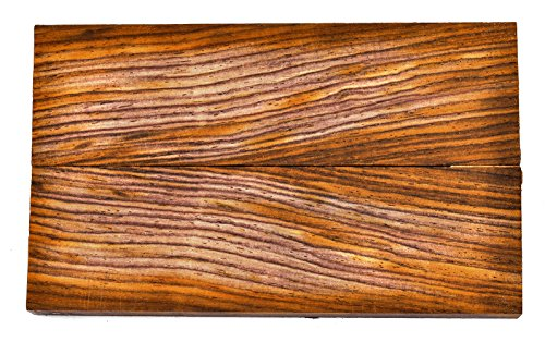 Texas Knifemakers Supply Cocobolo Wood Knife Handle Scales (Each Pair is Unique) 5' x 1-1/2' x 3/8'