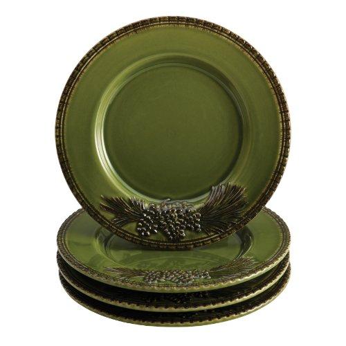Paula Deen Signature Dinnerware Southern Pine 4-Piece Salad Plate Set, Green