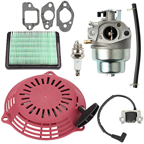 Savior HRR216 Carburetor & Air Filter Kit with Recoil Pull Starter Ignition Coil for Honda GCV160 Carburetor GCV160A GCV160LA GCV160LE GCV160A0 GCV160LA0 HRB216 HRS216 HRT216 HRZ216 Lawn Mowner
