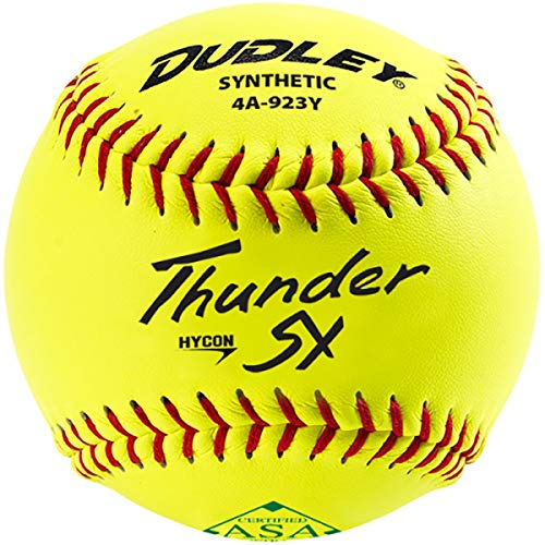Dudley Thunder Usasb Synthetic Slow Pitch 11 Inch Softball 12 Ball Pack