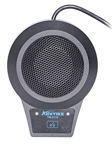 AInIYIKE TM-2110 Conference USB Microphone for Computer Desktop and Laptop with 360° / 20' Long Pick Up Range Compatible with Windows and Mac for Dictation, Recording, YouTube, Conference Call, Skype