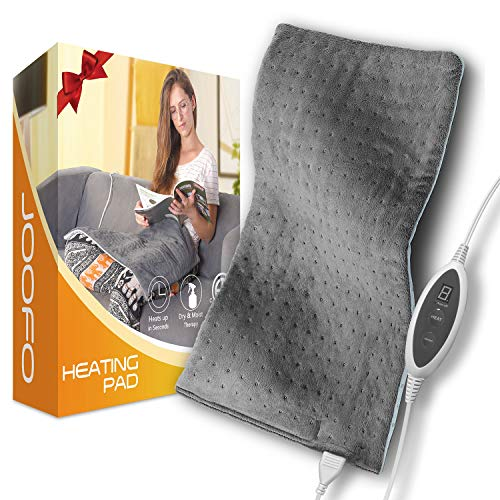 Heating Pad, Joofo Electric Heating Pad for Back Pain and Cramps Relief,XXX-Large Soft 20 x 24 inch Heat Pad with Fast Heating, Auto Shut Off and Moist Heat Therapy Option, 4 Temperature Settings¡­