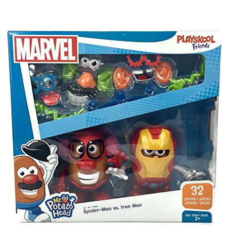 Mr. Potato Head Marvel Spider-Man vs. Iron Man Set by Playskool 32 Pieces