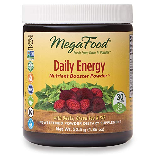 MegaFood, Daily Energy Booster Powder, Supports Energy and Stamina, Drink Mix Supplement Vegetarian, 1.86 oz (30 Servings)