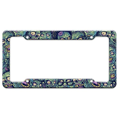 Graphics and More Zombie Pattern Dead Corpses Undead Horror License Plate Tag Frame