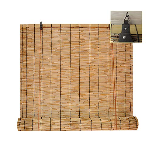 Filit Bamboo Roll Up Blinds for Outdoor,Reed Window Shades,Sunscreen Curtain,Weather Proof Louver,Natural Shutter,Suitable for Porches,Patio,Indoor,110x200cm/43x78.5in