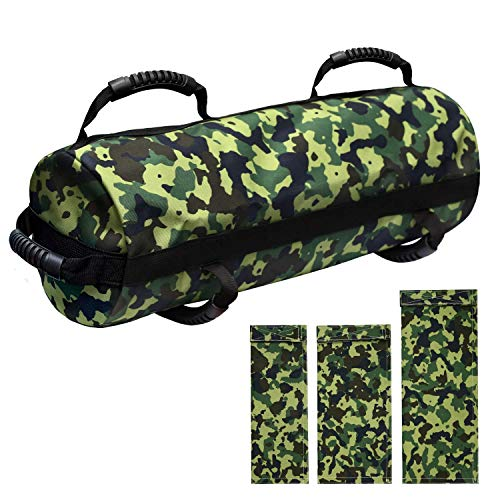 E ETERMTT Arcfoxi Sandbags for Fitness, Heavy Duty Workout Sandbags with 10 to 60 Lbs Adjustable Filler Bags, Tactical Training Weight Bags for Exercise and Military Conditioning (Sand Not Included).