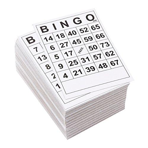 Juvale 3-60 Pack Disposable Bingo Game Card Sets (180 Cards Total), 1 Design, 6 x 4 Inches