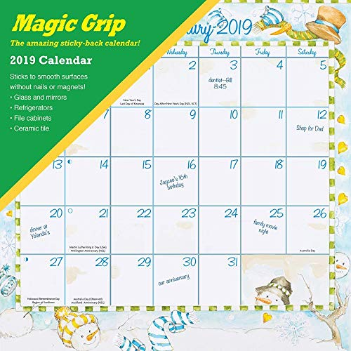 Calendar Ink, 2020 Joyful Seasons Magic Grip Wall Calendar