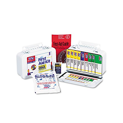 First Aid Only 240AN Unitized First Aid Kit for 10 People, 64-Pieces, OSHA/ANSI, Metal Case